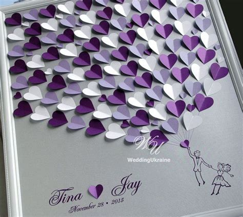 color purple book themes tendance joaillerie 2017 wedding guest book ideas
