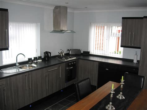 black and grey kitchen cabinets grey and black kitchen winda 7 furniture