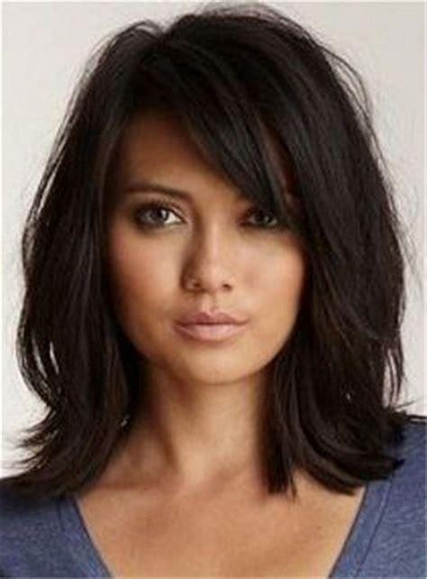 medium length hairstyles with side fringe medium length bob hairstyles with side bangs montenr