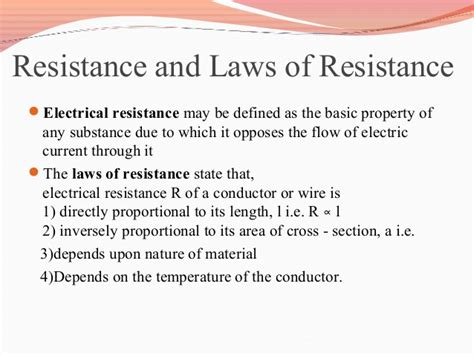 definition of resistance of a resistor ac and dc meters and kirchoff s laws