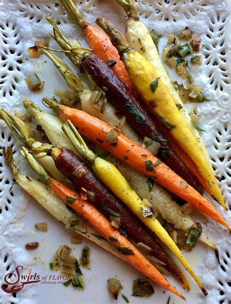 colored carrots roasted tri colored tarragon carrots swirls of flavor