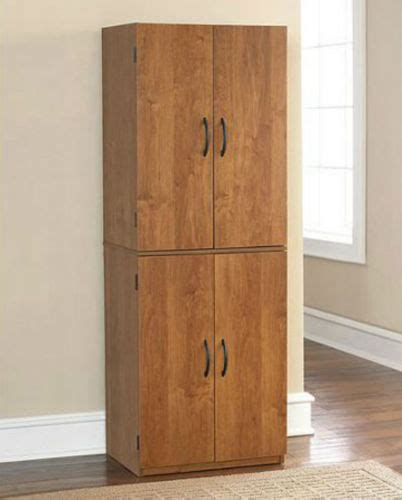 Tall Kitchen Pantry Cabinets by Tall Kitchen Pantry Shelf Food Storage Cabinet Wood