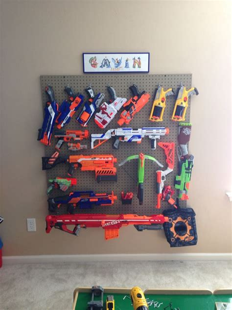 nerf gun rack i it nerf gun wall display ideas for the house