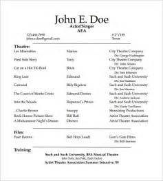 actor sle resume what does a acting resume look like