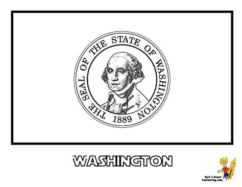 Washington State Flag Coloring Page washington state flag coloring page