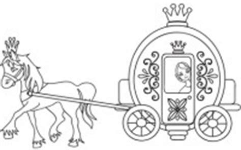 carrozza inglese cenerentola nella carrozza disegno da colorare cose per
