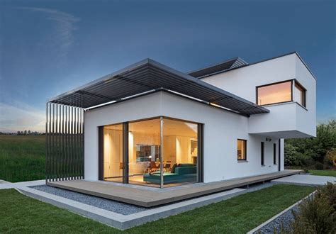a modern home designed by luxhaus home design garden