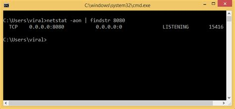 local port number how to find process id of process using a port in windows