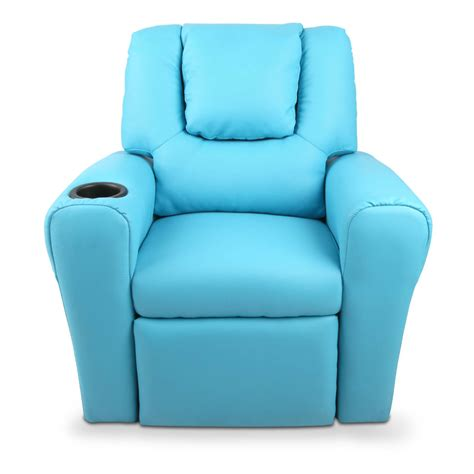 free recliner chairs 120 12 kids padded pu leather recliner chair blue