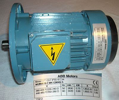 induction motor abb abb mu80a19 2 mk129049 s induction motor 3 phase used