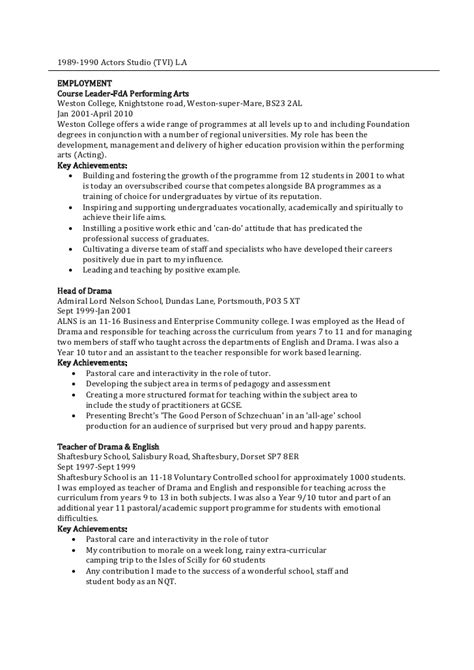Cover Letter For Nqt Teaching Position Exles D T Curriculum Vitae