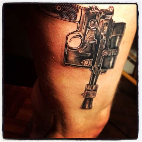 han solo tattoo han blaster starwars wars tats