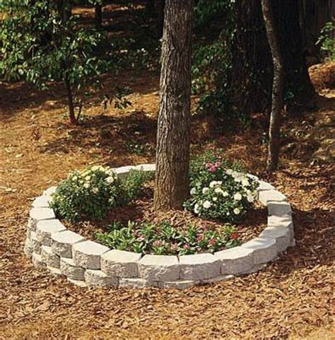 How To Build A Brick Planter by How To Create A Retaining Wall Around A Tree Ehow