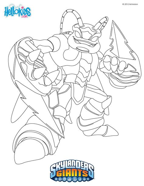 Swarm Coloring Pages Hellokids Com Skylanders Giants Coloring Pages