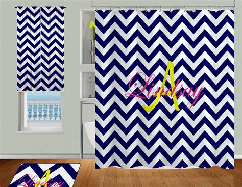 dorm shower curtains dorm navy and white cute shower curtain with yellow