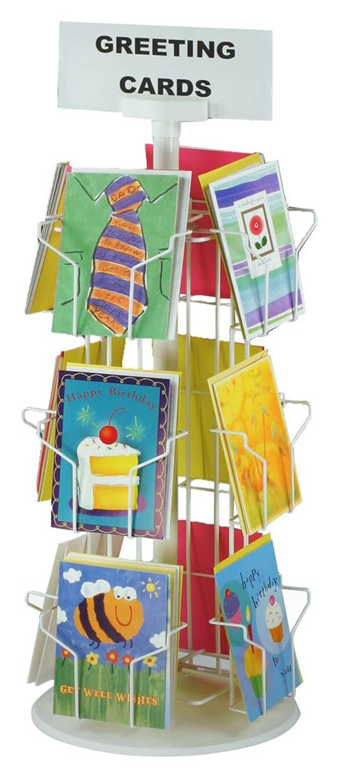Wire Card Rack by Revolving Wire Greeting Card Rack 12 Pocket Display