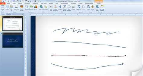 how to doodle in powerpoint drawing scribble lines in powerpoint 2010 powerpoint