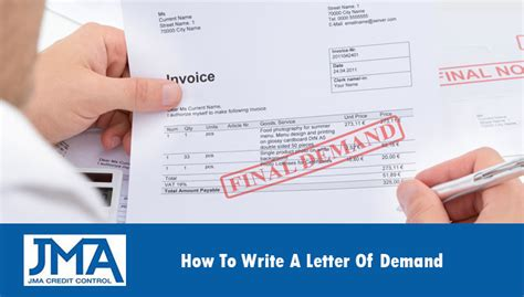 Credit Letter Before How To Write A Letter Of Demand Jma Credit