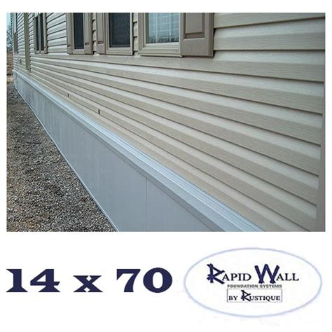 insulated mobile home skirting 14x70 rapid wall kit