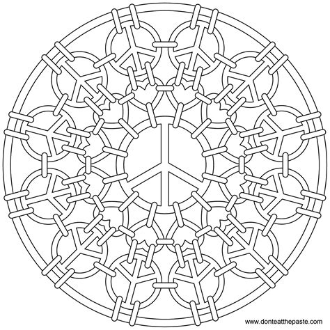 abstract sun coloring page don t eat the paste peace mail mandala to color