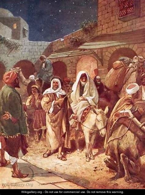 no room at the inn for mary and joseph and the donkey joseph and mary arrive at bethlehem but find there is no
