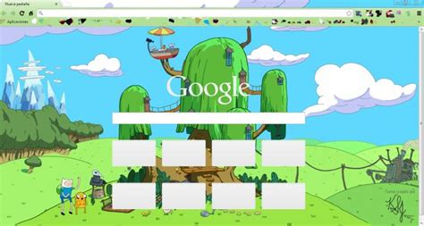themes google chrome adventure time finn y jake casa del 225 rbol chrome theme themebeta