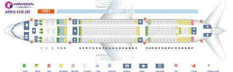 hawaiian airlines seating chart seatguru seat map