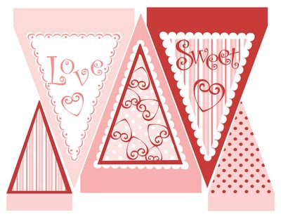 printable valentines decorations 30 diy bunting and banners to make tip junkie