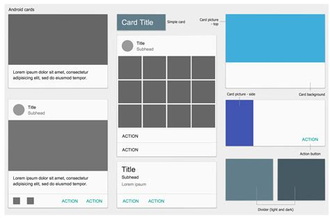 layout elements android android user interface solution conceptdraw com