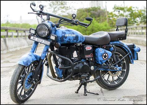 classic paint skyline royal enfield classic 500cc with camouflage