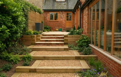 minimalist garden with brown gravel minimalist garden