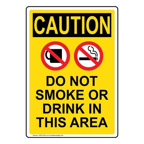 no smoking sign osha no smoking signs and labels osha caution