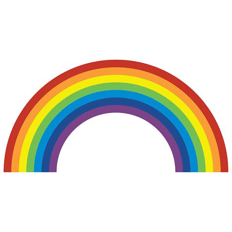 wall stickers rainbow rainbow wall sticker by spin collective