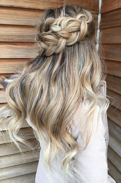 braided hairstyles hair down half up half down braid mane interest