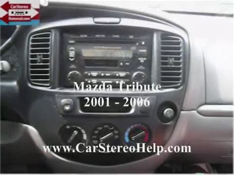 mazda car stereo mazda tribute car stereo removal