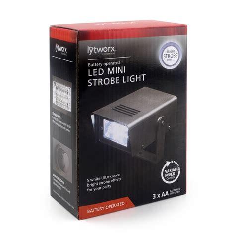 lytworx battery operated 5 led mini strobe light