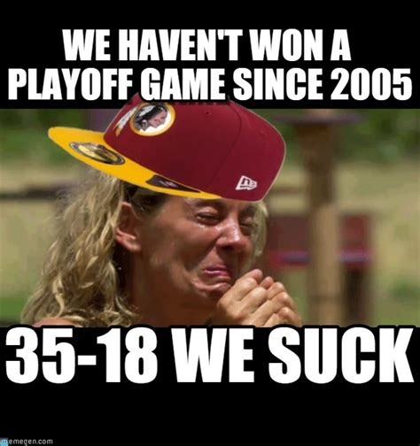 Redskins Suck Meme - crying redskin fan redskin fan crying meme on memegen
