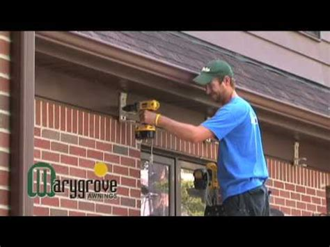 awning installation retractable awning installation video marygrove awnings youtube