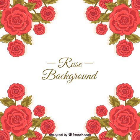 imagenes de rosas rojas vintage fondo bonito de rosas rojas descargar vectores gratis