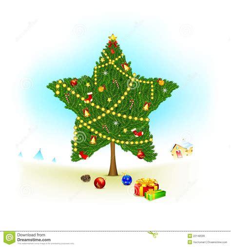 start shape christmas tree royalty  stock images image