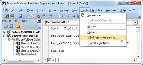 remove password vba autocad disable visual basic editor