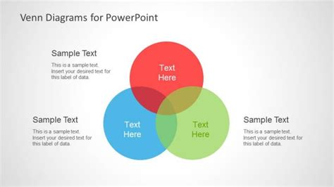 powerpoint venn diagram intersection colorful venn diagrams for powerpoint slidemodel