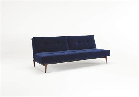 Velvet Sofa Bed Splitback Sofa Bed Vintage Velvet Blue By Innovation