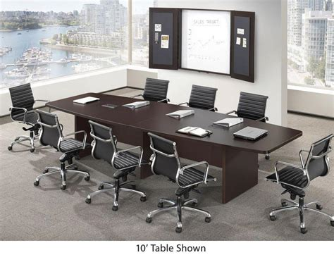 4 X 8 Conference Table Ndi Office Furniture Boat Shape Conference Table W Slab Base 10 L Pl10b Conference