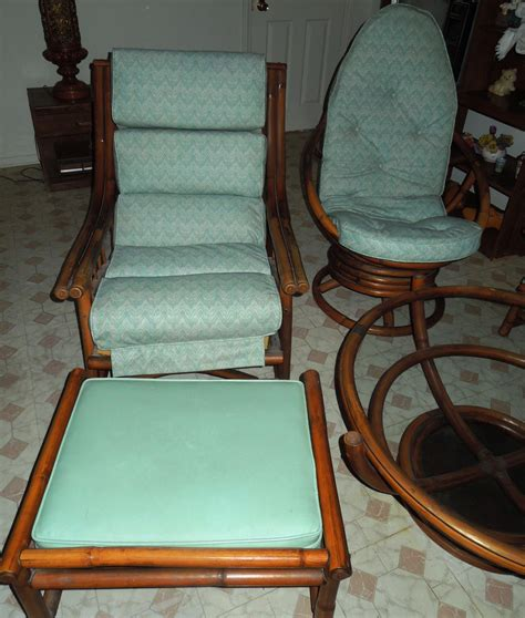 Vintage Living Room Chairs For Sale 1960s Vintage Bamboo Vinyl Retro Living Room Furniture Set