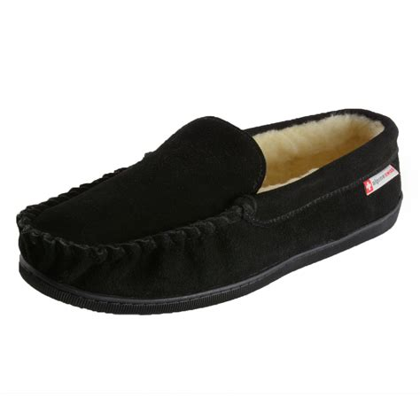 best mens house slippers alpine swiss sabine womens suede shearling moccasin