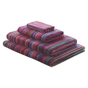 striped bath towel shadi bright stripe bath towel buy now at habitat uk