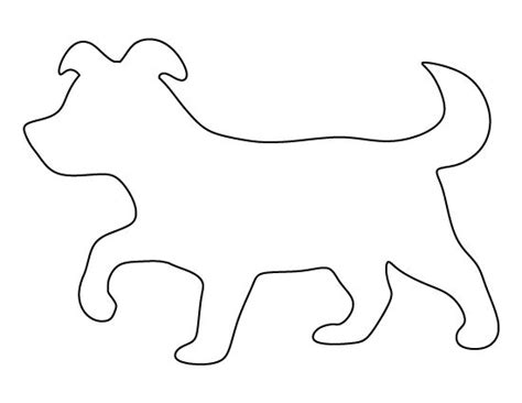 puppy pattern use the printable outline for crafts
