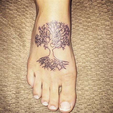 small tree of life tattoo cool black tree of on right leg calf by shavypus