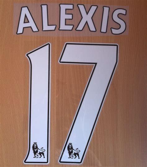 alexis sanchez kit number alexis sanchez 17 arsenal afc home 2014 2015 name number